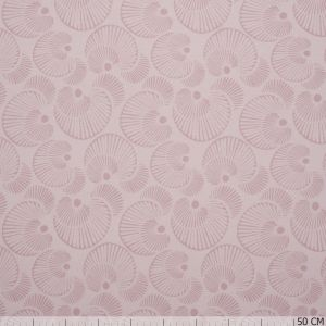 Organic Cotton Circles Old Pink