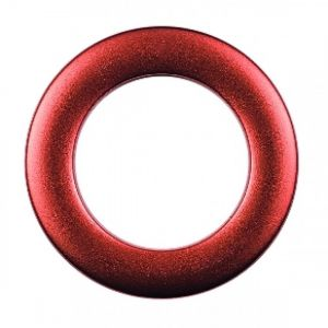 Deco ring kunstst. 35,5/55 rood metallic