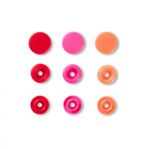 Prym Love Color KST drukknop. rood 12,4mm