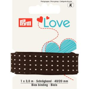 Prym Love Biaisband CO Punten 40/20 mm bruin