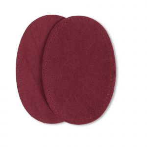 Patches suede opstr. 9x13,5cm d-rood