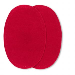 Patches suede opstr. 9x13,5cm rood