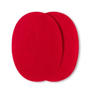 Patches suede opstr. 10x14cm rood