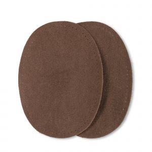 Patches suede opstr. 10x14cm bruin