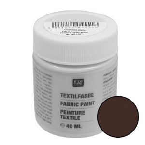 Textielverf DARK BROWN