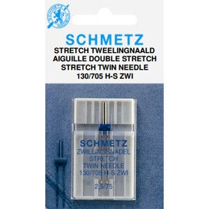 Naaimachinenaalden tweeling-stretch 2,5mm/dikte 75