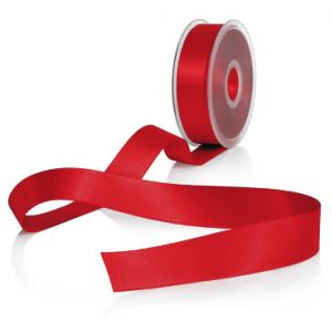 Ribsband 38 mm rood