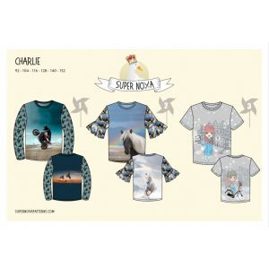 Supernova kids pattern  t-shirts