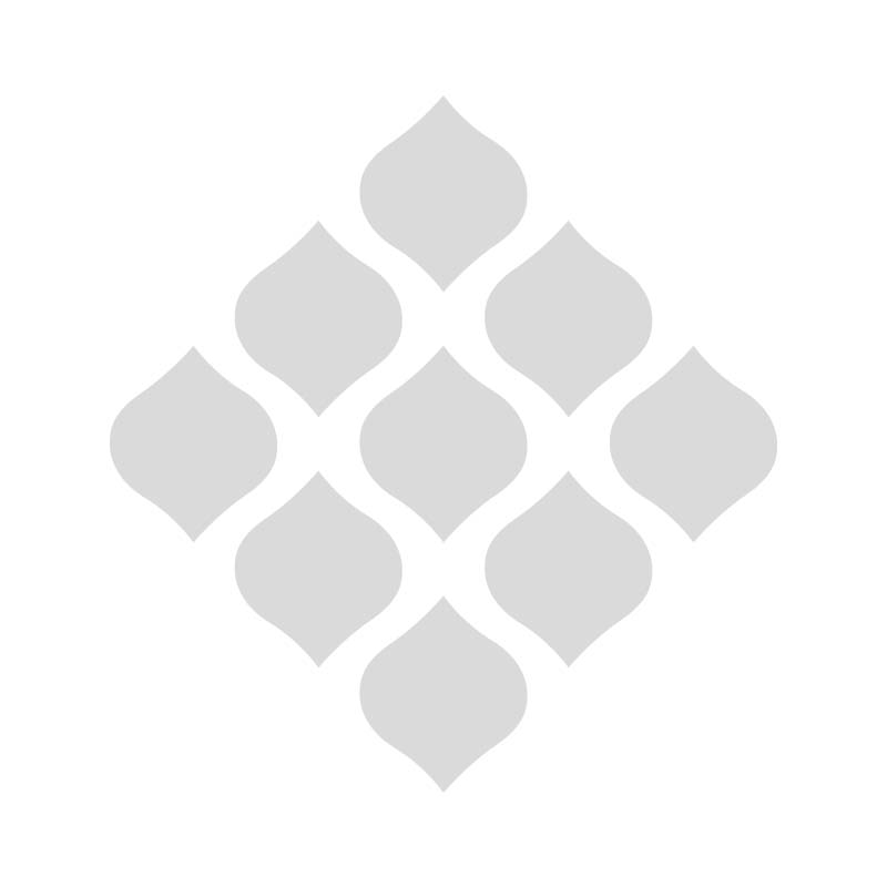 Applicatie Letter M blauw/bont